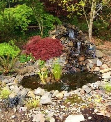 Kész kerti tó medrek képe