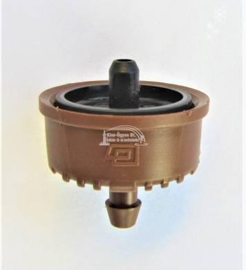 Plastro Supertif ND nyomáskompenzált, szivárgásmentes csepegtető gomba 3,8 L/h fekete